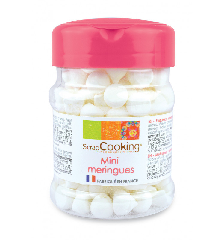 Pot de mini meringues blanches