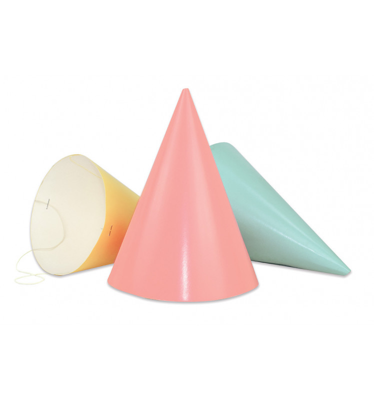 """6 chapeaux pointus """"pastel"""""""