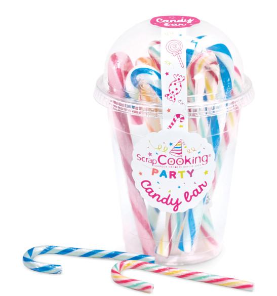 Boite 8 Candy cannes multicolores