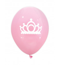 "6 ballons ""princesse""Ø 25 cm"