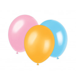 6 ballons assortis Ø 25 cm