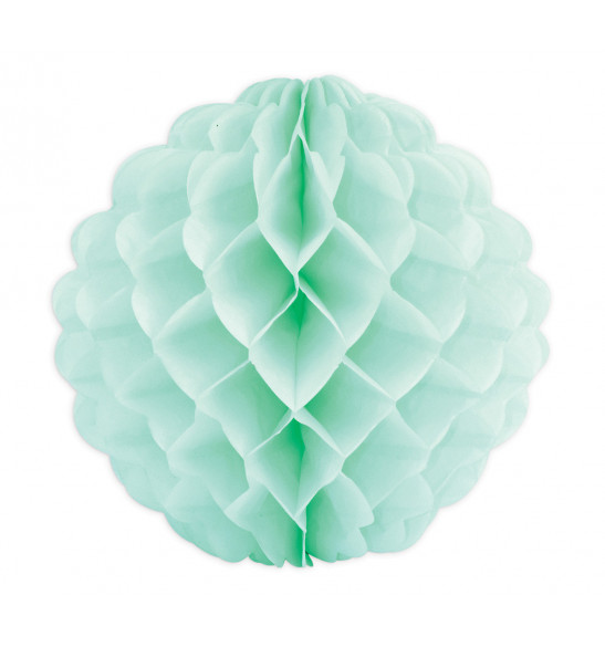 Boule alvéolée vert d'eauØ 25 cm
