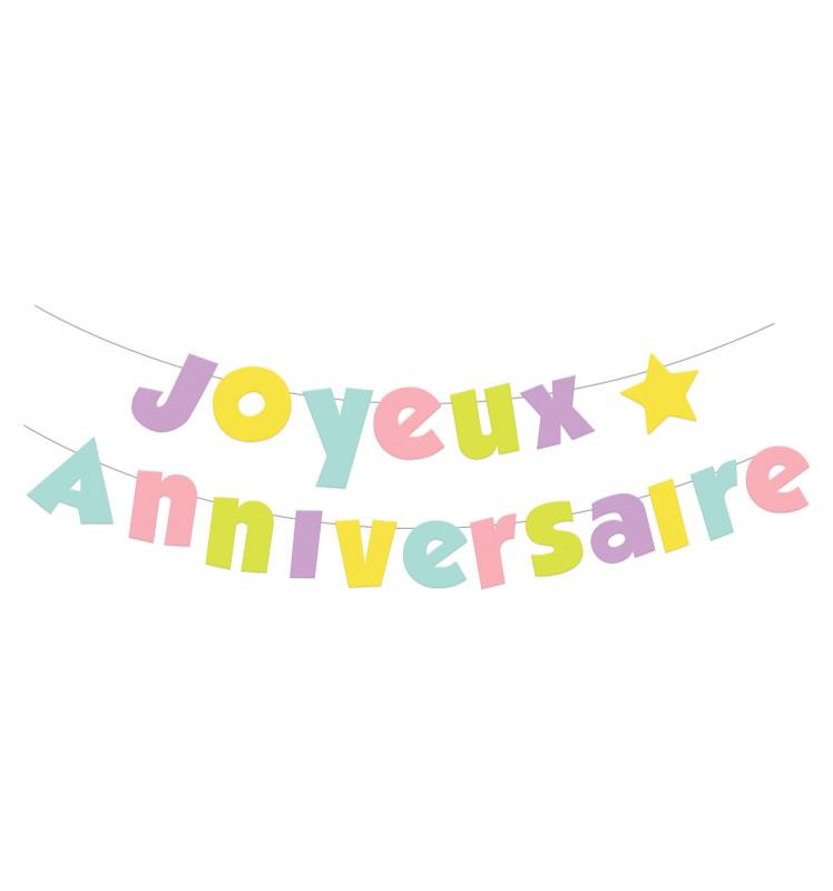 Guirlande Joyeux anniversaire 10 m