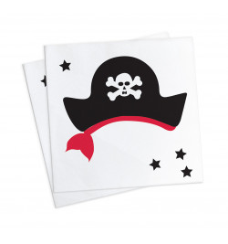"20 serviettes ""pirate"" 25x25cm"