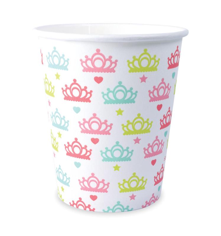 8 princess cups 25cl