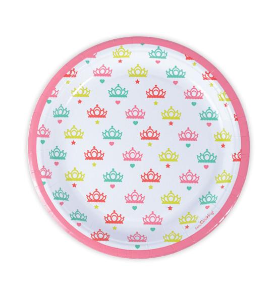 """8 assiettes  """"princesse""""Ø23cm"""