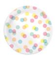 """8 assiettes """"confettis""""Ø23cm"""