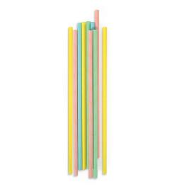 20 pailles cartonnées pastel réf.0200