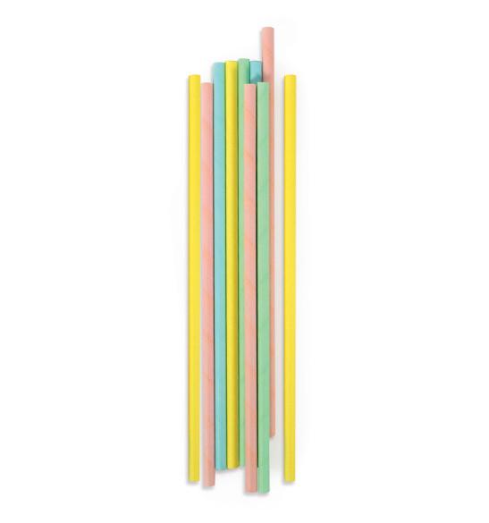 """20 Pailles cartonnées """"pastel"""""""