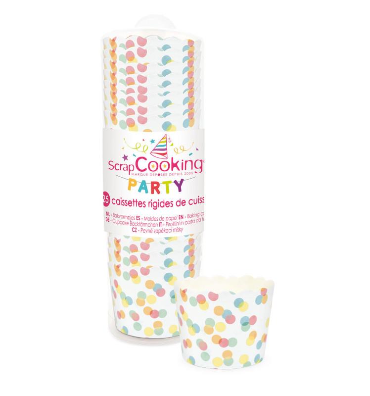 25 Confetti cupcake cases