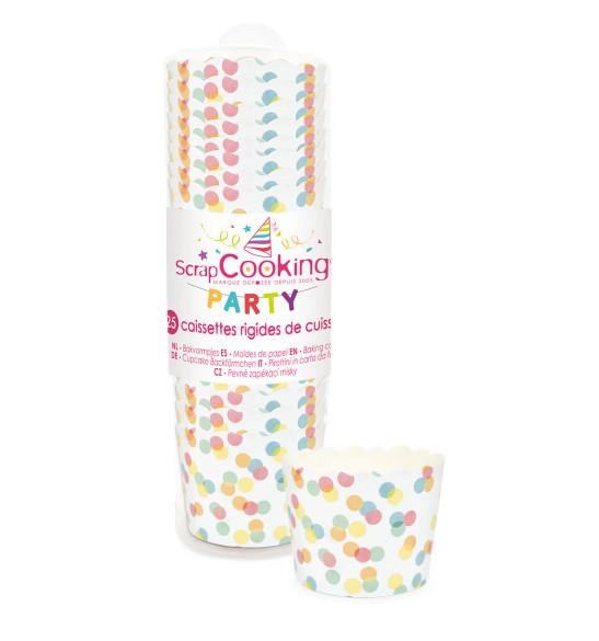 Caissettes de cuisson confettis x 25