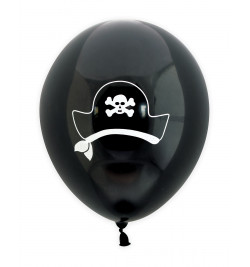 6 Pirate balloons Ø 25 cm