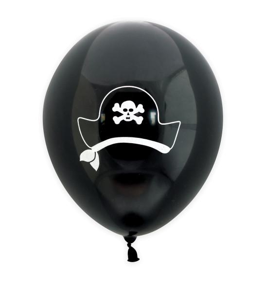 "6 ballons ""pirate""Ø 25 cm"