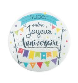Disque azyme Joyeux anniversaire Ø 15 cm réf.0400