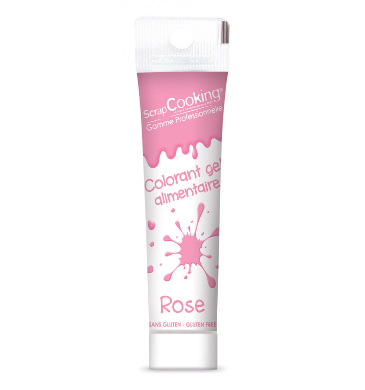 Colorant gel alimentaire rose 20g