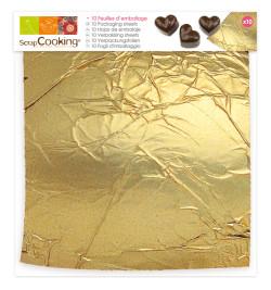 10 feuilles dorées emballage réf.5211