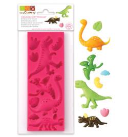Moule pâte à sucre dinosaures réf.3449