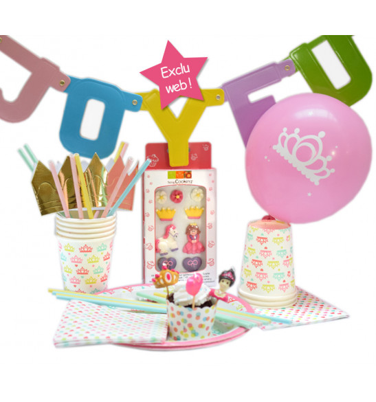 Box anniversaire déco Princesse