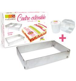 Cadre à pâtisserie extensible + ruban rhodoïd