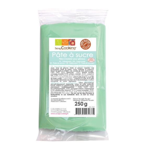 Pâte à sucre vert d'eau 250g
