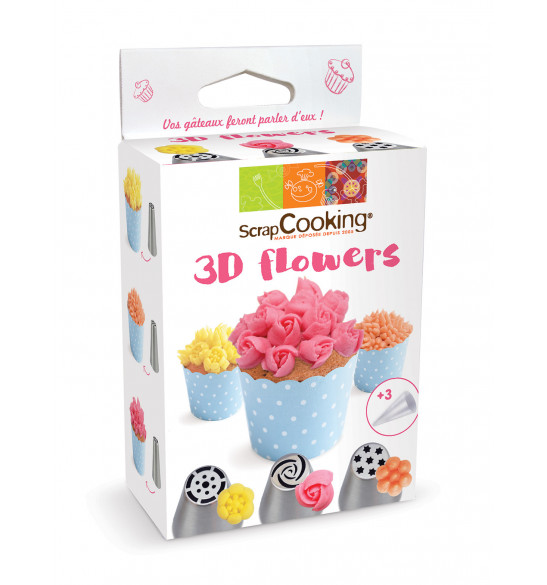 3D Flower piping tip kit
