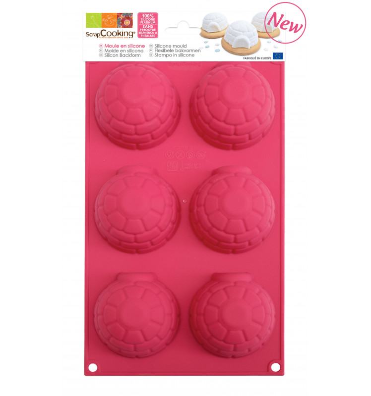 ScrapCooking® silicone mould with 6 igloo cavities