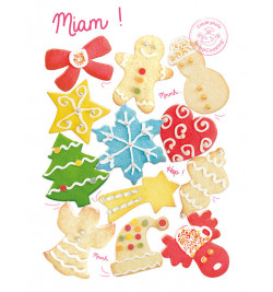 Biscuits plaque découpoirs multi Noël 2070