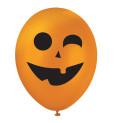 """6 Ballons """"citrouille"""" Ø25 cm"""
