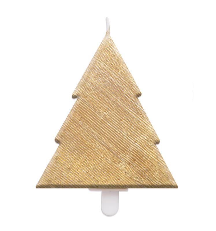 Golden fir candle