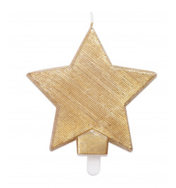 Golden star candle