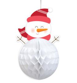 Honeycomb snowman