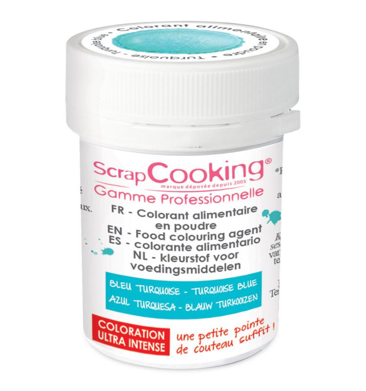 Colorant alimentaire en poudre turquoise 5g