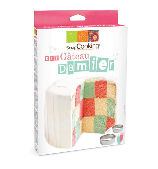 Kit gâteau damier