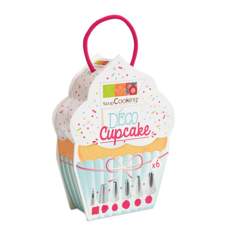 Boite déco cupcake 6 douilles inox