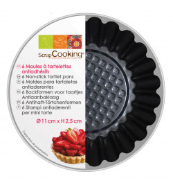 Set of 6 tart tins Ø11cm