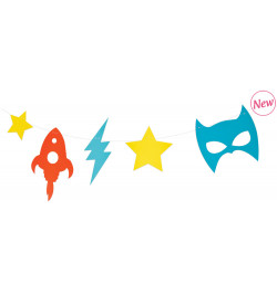 Super hero garland 2.7 m
