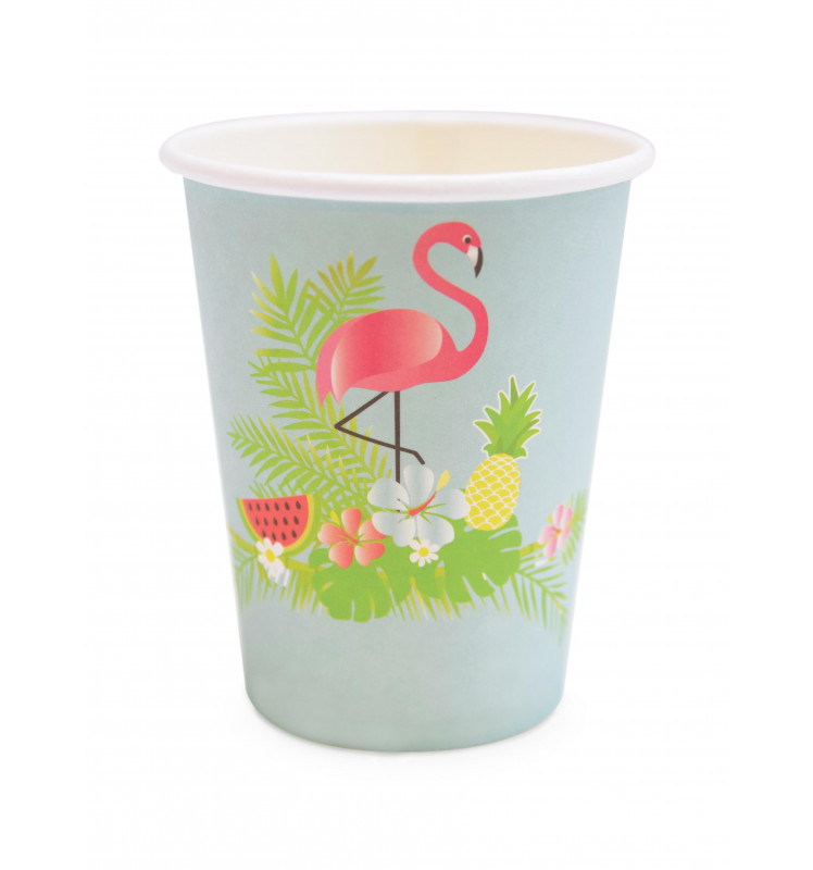 8 Summer paper party cups 25cl