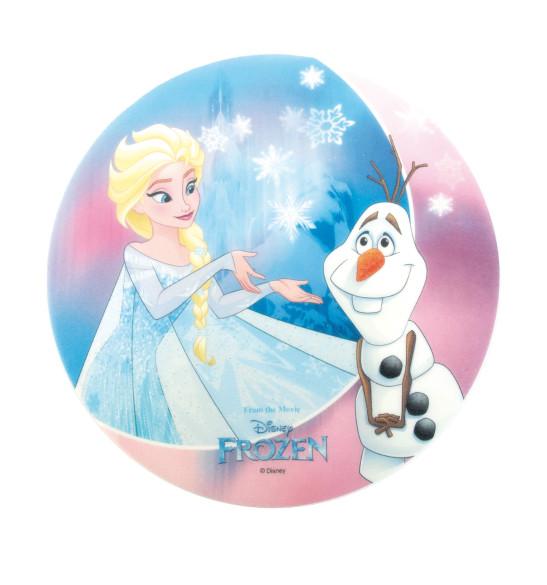 """Disque azyme """"Reine des neiges""""  Elsa et Olaf"""