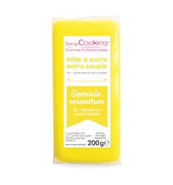 Pâte à sucre de couverture jaune 200 g 7156
