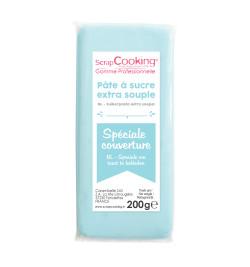 Pâte à sucre de couverture bleu clair 200 g 7153