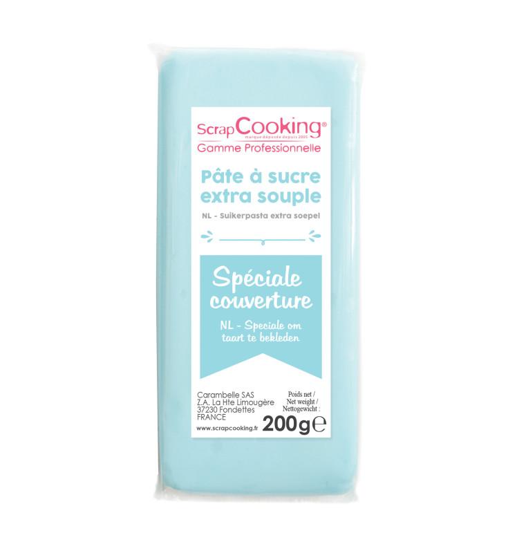 Pâte à sucre de couverture bleu clair 200 g