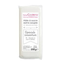 Pâte à sucre de couverture blanche 200 g 7151