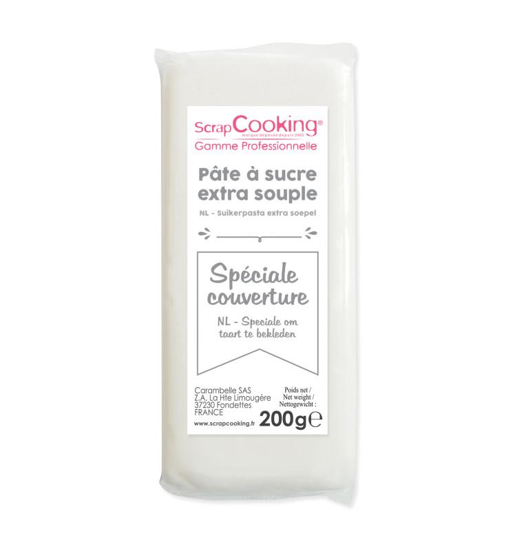 Pâte à sucre de couverture blanche 200 g