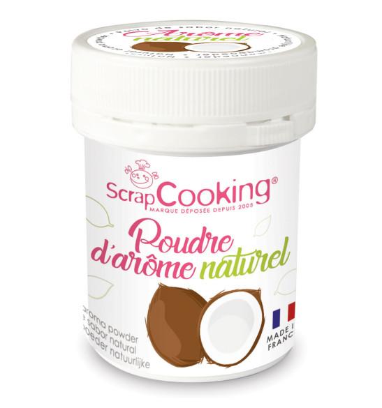 Pot de poudre d'arôme naturel noix de coco