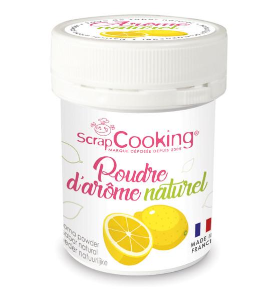 Pot de poudre d'arôme naturel citron