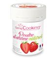 Pot de poudre d'arôme naturel fraise