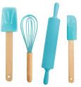 Set of 4 children's cooking utensils