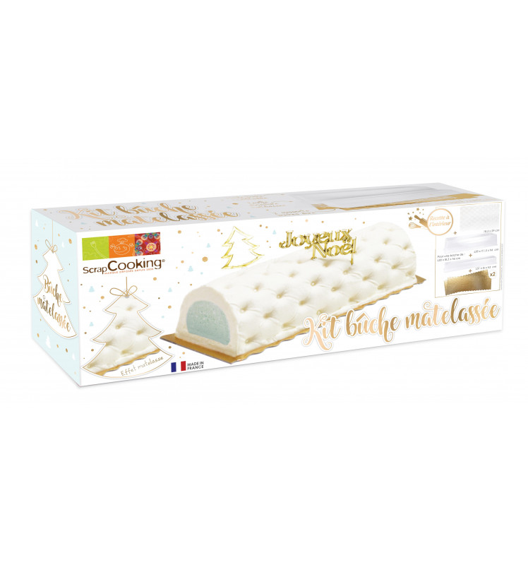 Semi-rigid quilted pattern log mould kit