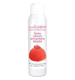 Spray velours rouge