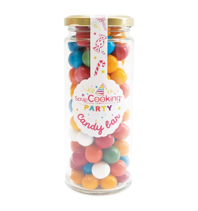 Pot en verre de bonbons Bubble gums
